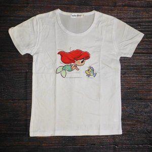 Ariel Little Mermaid Girls Short Sleeve Shirt